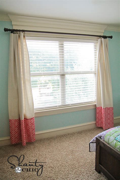 sewing draperies curtains no sew baby shanty 2 chic