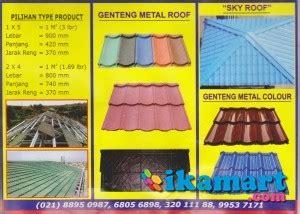 Jual Genteng Metal Pasir Kaskus harga jual genteng metal roof lapis pasir berpasir paling