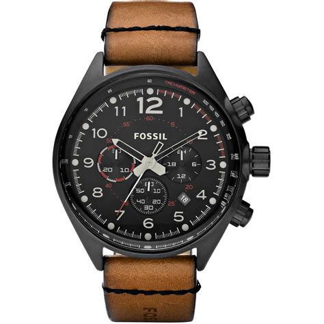 s flight chronograph brown leather ch2695