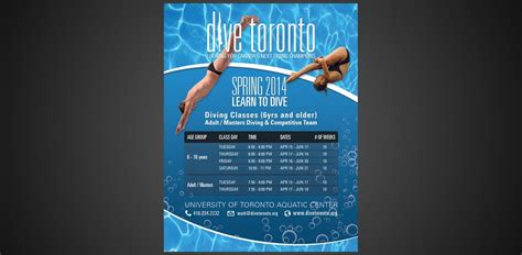flyer design toronto flyer design for diving courses in toronto flyerdesign ca