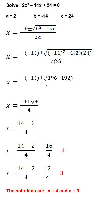 the quadratic formula is a great method for solving any