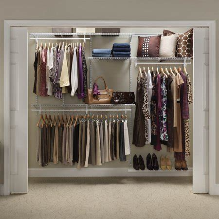closetmaid shelftrack closet organizer kit 5 to 8