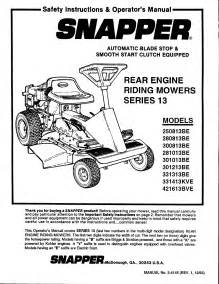 snapper lawn mower 280813be user guide manualsonline com
