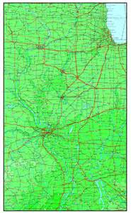 us map illinois illinois elevation map