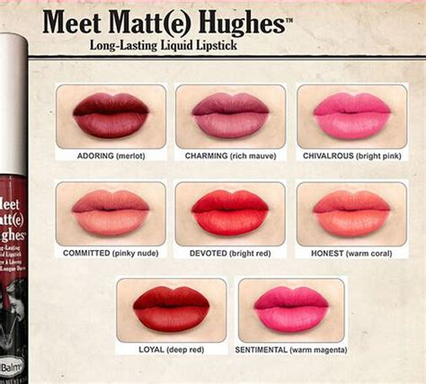 The Balm Lip Matte Hughes the balm meet matt e hughes lasting liquid lipstick glow cosmetics