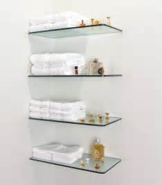 glass shelves bathroom wall home glass shelving