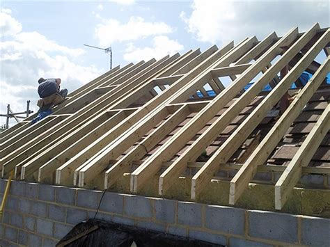 Garage Roof Construction Cut Roofs Wood N Carpentry