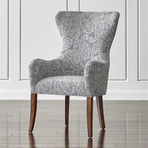 Wing Dining Chairs Blue And White Paisley Wingback Chair