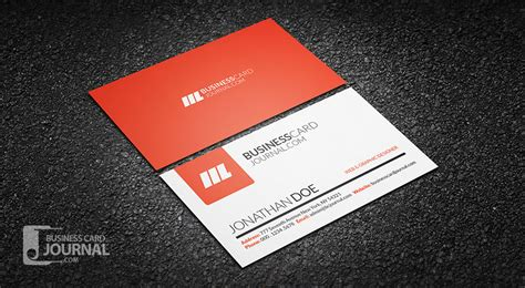 cool business card template free simple clean creative business card template