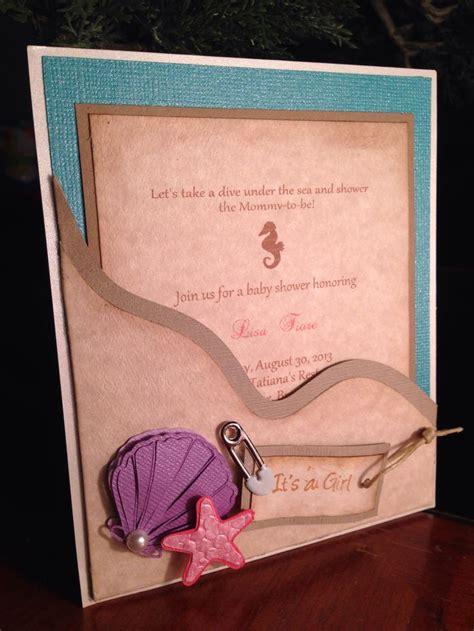 Baby Shower Handmade Invitations - handmade the sea baby shower invitation baby