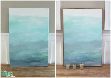 cheap frames for art how to frame a canvas for cheap the turquoise home