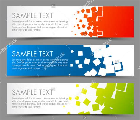 banner design html 25 vector business banner templates ai eps svg