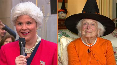 what makeup does jenna bush wear jenna bush hager dresses as grandma barbara bush for