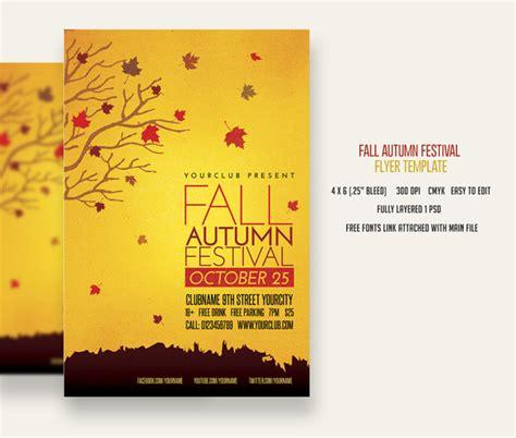 fall flyer template not found creative market