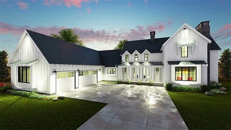 farmhouse plans modern 4 bedroom farmhouse plan 62544dj architectural