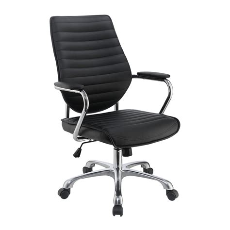 shop scott living black contemporary desk chair at lowes com