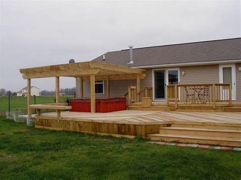 pergola with deck deck pergolas here s a newly constructed deck per