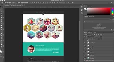 how to place your psd template to adobe muse responsive