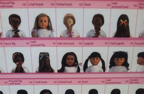 hairstyles for american girl doll videos these are some of the offered hairstyles from the ag hair