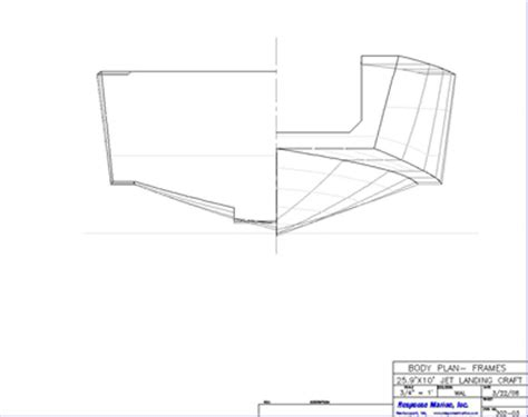 Home Plan Design Response Marine 26 Landing Craft Design Jet Drive Drawings