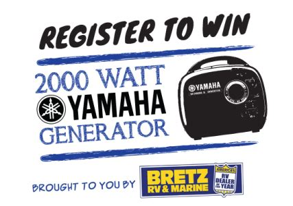 Yamaha Giveaway - yamaha generator giveaway brought to you by bretz rv montana hunting and fishing
