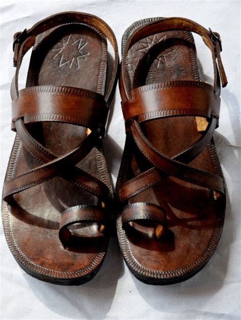 handmade sandals cross buckle sling leather sandals handmade sandals
