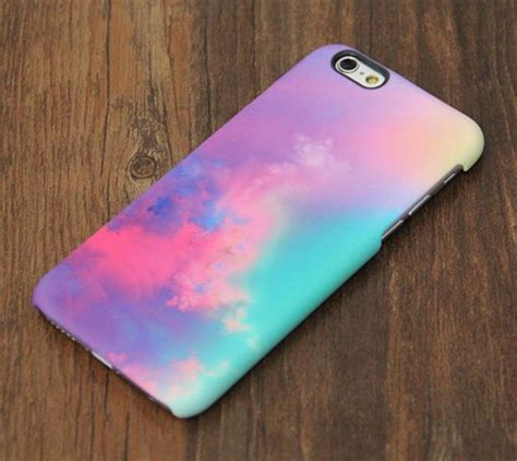 Casing Hp Cover Iphone 5 5s 6 6s 6 Plus 6s Plus Leather Metal pastel pink turquoise abstract iphone 6s iphone 6