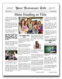 Publisher Newspaper Templates by Newspaper Template Http Webdesign14