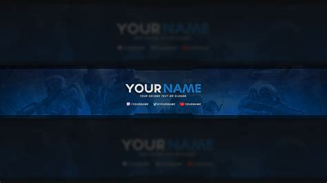 Youtube Banner Template Psd Cyberuse Free Gaming Banner Template
