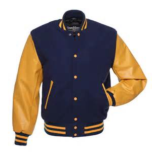 navy blue wool and gold vinyl letterman jacket cv136 us