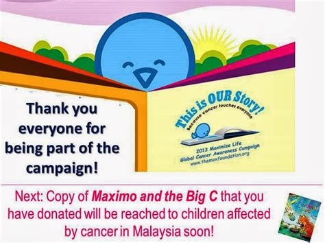 the big book of bravery for the cancer survivor books max family society malaysia thank you supporters maximo