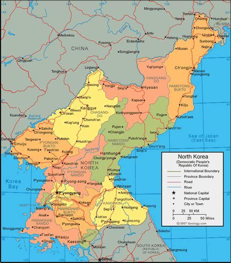 map usa to korea korea map thumb gif