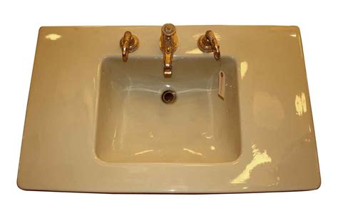 yellow bathroom sinks console sink yellow with sherle wagner fittings olde