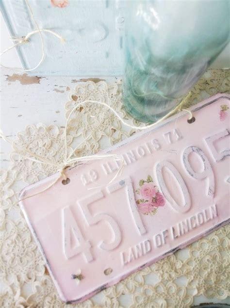 pink shabby chic sign garden gates cottage decor vintage