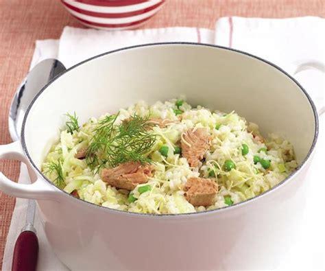 salmon and risotto fennel pea and salmon risotto recipe food to