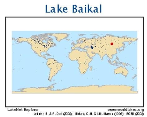 world map lake baikal lakenet lakes