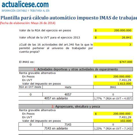 calculo de impuesto de renta colombia base ley 1607 de 2012 modelos y formatos