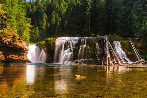 of river falls lower lewis river falls waterfall in washington