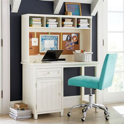 teen desk with hutch beadboard space saving desk hutch pbteen