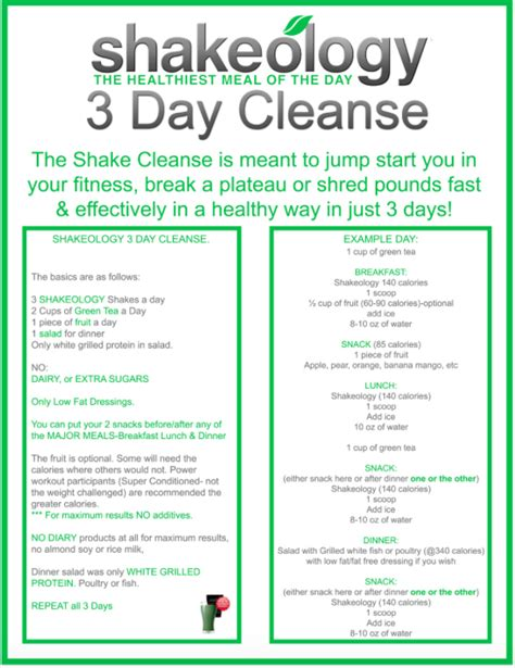 11 Day Detox by Day Of Sugar Detox And Shakeology Cleanse Mommysavers
