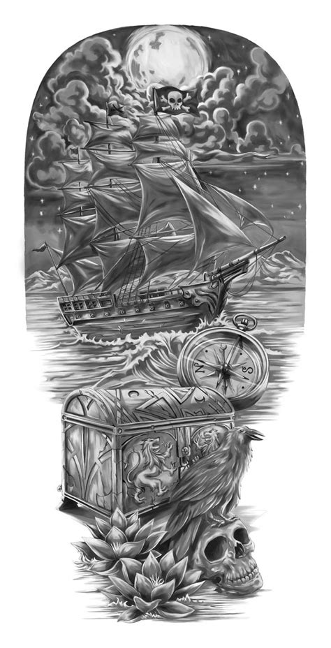 pirate ship tattoo design best 25 pirate sleeve ideas on pirate