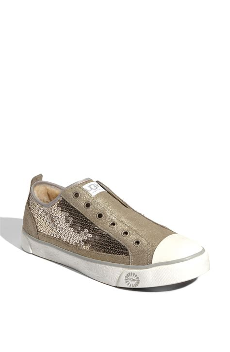 ugg sneaker boots ugg laela sparkles sneaker in brown silver