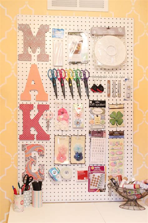 Diy Crafts With Scrapbook Paper - craft room peg board scrapbook paper letters how to