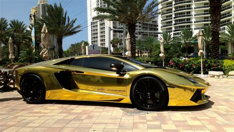 Where Does The Lamborghini Come From Gold Plated Lamborghini Aventador Lp700 4 In The