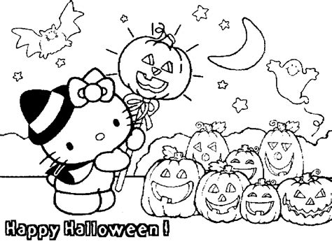 transmissionpress hello kitty happy halloween coloring pages