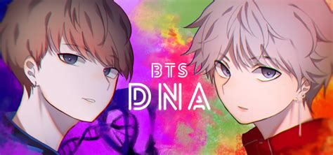 bts anime pictures bts dna by msp lyn on deviantart