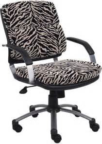 Desk Chair Zebra Print B546 Zb Zebra Print Microfiber Office Chair With