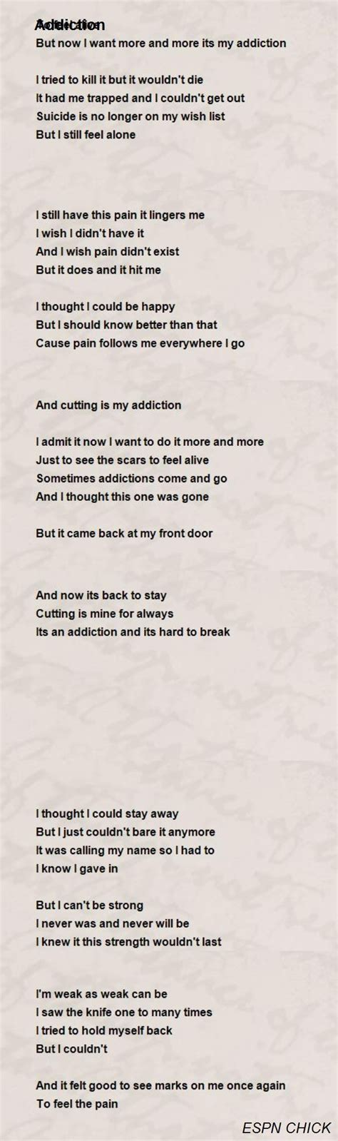tion poems family this is the second poem as a addiction poem by espn poem Addi