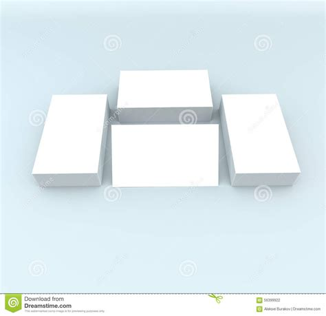 presentation cards template many cards template to presentation stock illustration