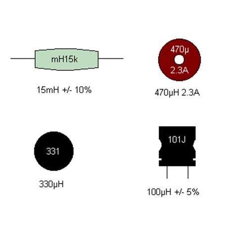 matrix electronic circuits and components inductors inductor markings